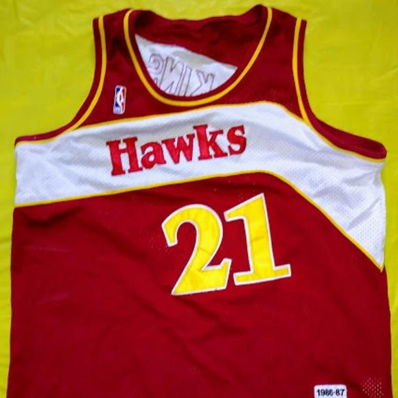 94dfe7d11 Mitchell & Ness Shirts | Dominique Wilkins Atlanta Hawks Throwback ...